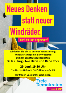 Plakat Veranstaltung Windkraft