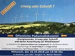 """Podiumsdiskussion: """"Energiewende – Irrweg oder Zukunft"""" am 10. Oktober in Wetzlar-Blasbach"""