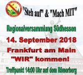 Frankfurter Demo zur Regionalversammlung Südhessen am 14.09.2018