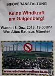 Info-Veranstaltung am 18. Dezember der Bi-Windwahn-Selters-Ts in Selters/Münster