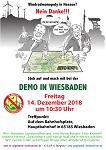DEMO IN WIESBADEN und Präsenz in Frankfurt am Freitag 14. Dezember 2018