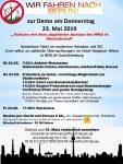 Wir fahren nach Berlin zur Demo am 23. Mai: Nur noch wenige Restplätze für kostenlose Fahrt vorhanden!