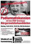 """Podiumsdiskussion """"Windkraft"""" mit den Bürgermeisterkandidaten am 18. Februar in Gründau"""