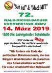 72. Wald-Michelbacher Donnerstagsdemo am 14. März 2019