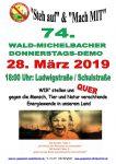 74. Wald-Michelbacher Donnerstagsdemo am 28. März 2019