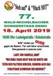 77. Wald-Michelbacher Donnerstagsdemo am 18. April 2019