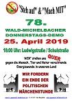 78. Wald-Michelbacher Donnerstagsdemo am 25. April 2019