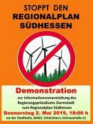 Demo zur Info-Veranstaltung des RP am 02. Mai in Schlüchtern