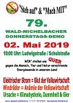 79. Wald-Michelbacher Donnerstagsdemo am 02. Mai 2019