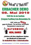 Demo zur Info-Veranstaltung des RP am 08. Mai 2019 in Erbach