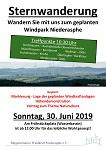 """Sternwanderung zum geplanten Wind""""park"""" Niederasphe am Sonntag, 30. Juni 2019"""