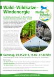 """Vortragsnachmittag """"Wald – Wildkatze – Windenergie"""" am Samstag, 09.11.2019 in Grünberg"""