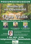 """Podiumsdiskussion am 03. Dezember in Heiligkreuzsteinach – """"Windkraft im Odenwald – Qou Vadis"""""""