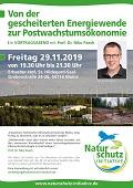 """Vortrag am 29. November in Mainz """"Von der gescheiterten Energiewende zur Postwachstumsökonomie"""""""