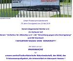 Mahnwache für den Naturpark Nassau am 01. März in Altendiez