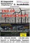 """FÄLLT AUS!!! Kino-Dokumentarfilm """"End of Landschaft"""" am 20. März in 35447 Reiskirchen FÄLLT AUS!!!"""