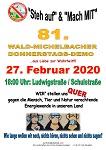 81. Wald-Michelbacher Donnerstagsdemo am 27. Februar 2020