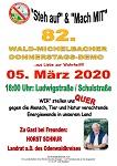 82. Wald-Michelbacher Donnerstagsdemo am 05. März 2020