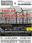 """FÄLLT AUS!!! Kino-Dokumentarfilm """"End of Landschaft"""" am 13. März in 34582 Borken FÄLLT AUS!"""
