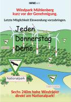 """Jeden Donnerstag Demo gegen den Wind""""park"""" Mühlenberg in Voehl-Herzhausen"""