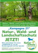 """Naturschutzinitiative e.V.: """"KAMPAGNE 21"""" vor der Bundestagswahl: Natur-, Wald- und Landschaftsschutz JETZT!"""